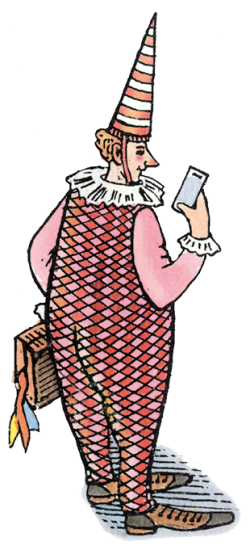 Illustration_11_Clown mit Handy